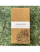 Liga Cork Yoga Block Sunflower