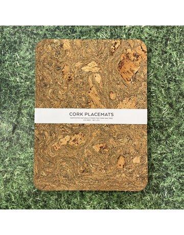 Liga Cork Placemat Set Rectangle Ice Grey