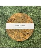 Liga Round Cork Trivet Ice Grey