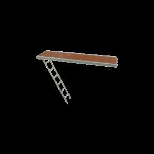 RLS Passagevlonder aluminium + ladder (U-oplegging) 0,61 × 3,07 m