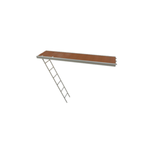 RLS Passagevlonder aluminium + ladder (U-oplegging) 0,61 × 2,57 m