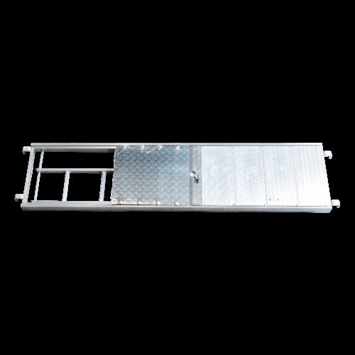 RMS Passagevlonder aluminium + ladder (buisoplegging) 2,57 m