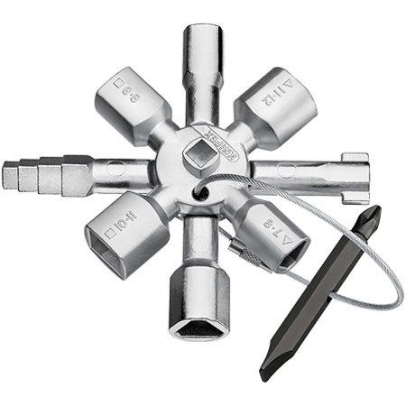 Knipex NIPEX TwinKey voor alle standaard schakelkasten en afsluitsystemen