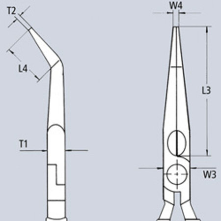 Knipex Platspitse tangen met zijsnijder (radiotangen)