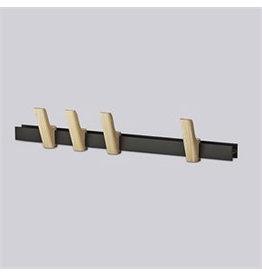 HAY HAY Beam 60cm. 4 hooks anthraciet nat ash hooks
