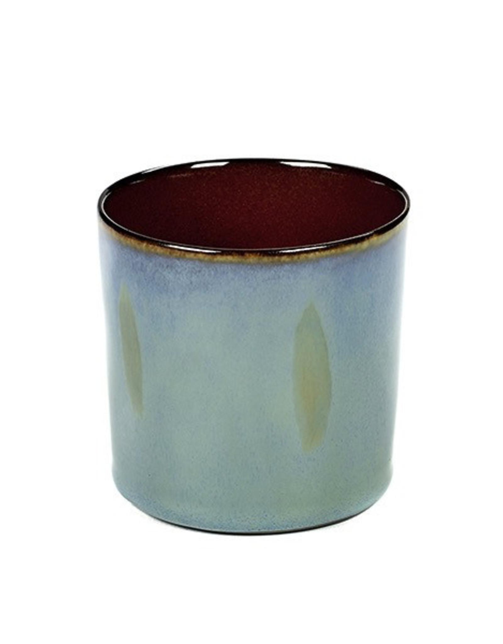 Serax NV SERAX BEKER CYLINDER HOOG SMOKEY BLUE/RUST