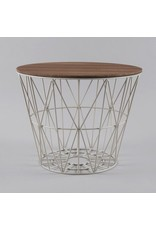 FERM LIVING Wire Basket Top medium Smoked Oak