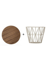 FERM LIVING Wire Basket Top small smoked oak