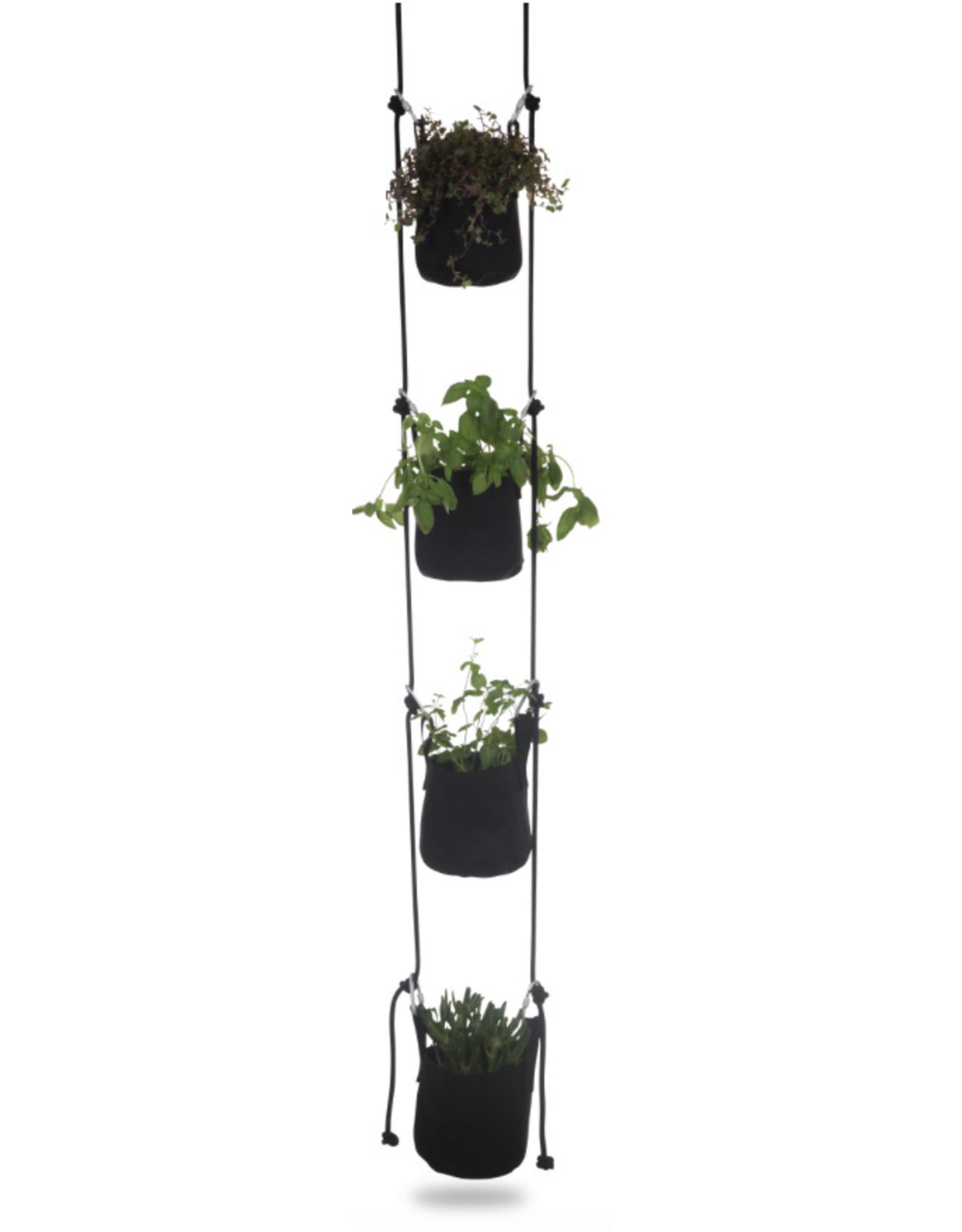 TRIMM COPENHAGEN Vertical Flowerpots Black