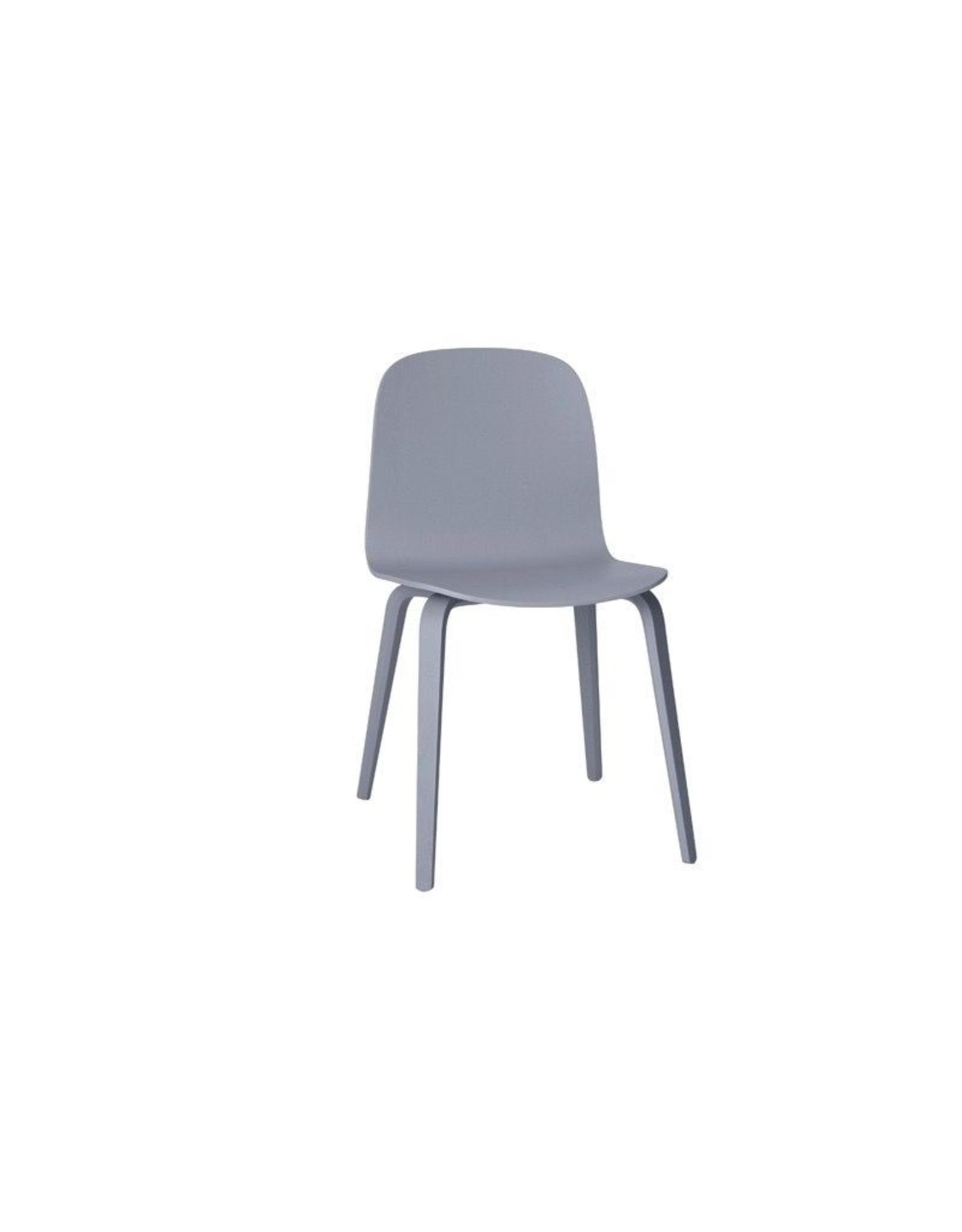 Muuto Visu Chair Wood Base Grey/grey
