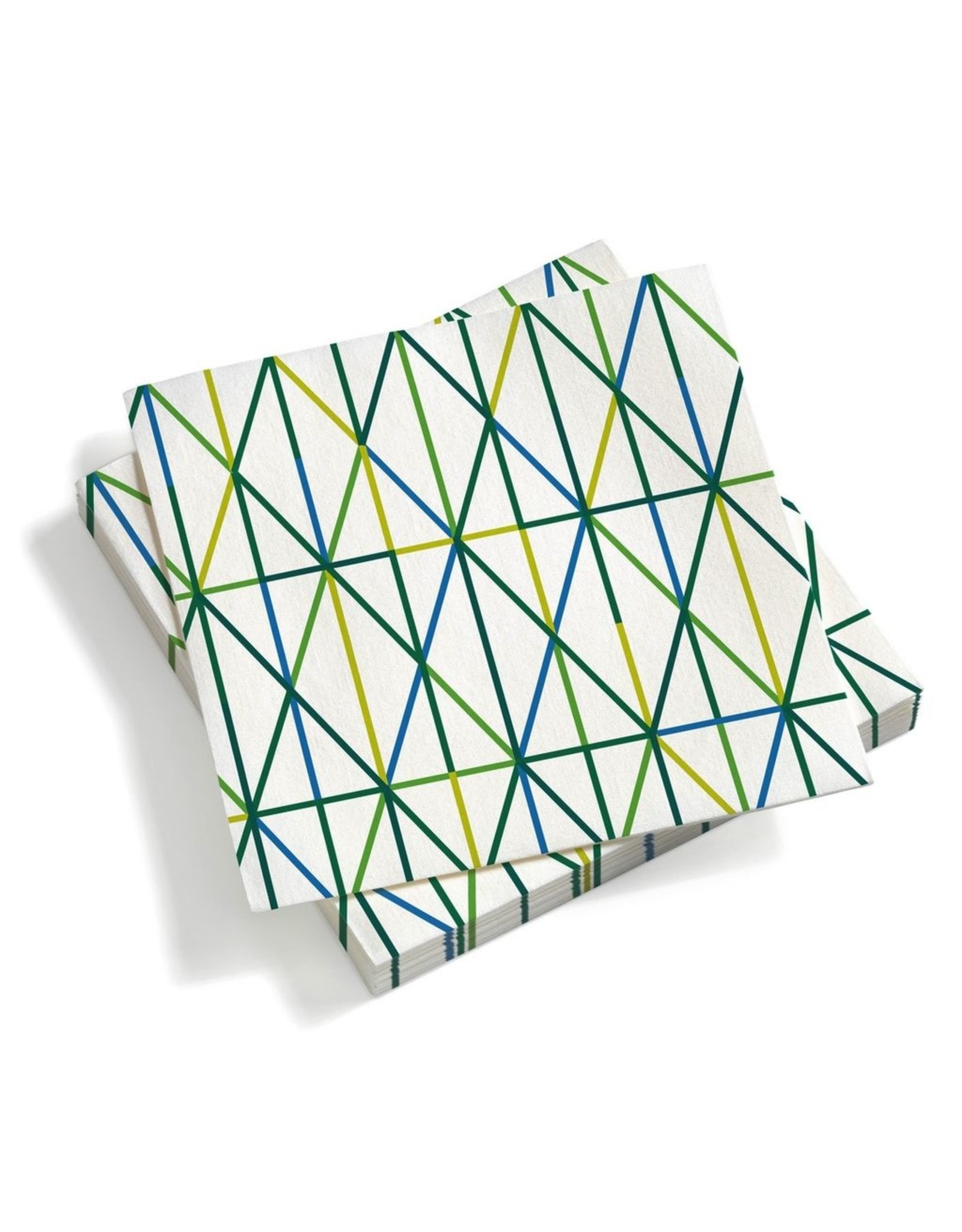 VITRA PAPER NAPKINS LARDE GRID/GREEN (12st)