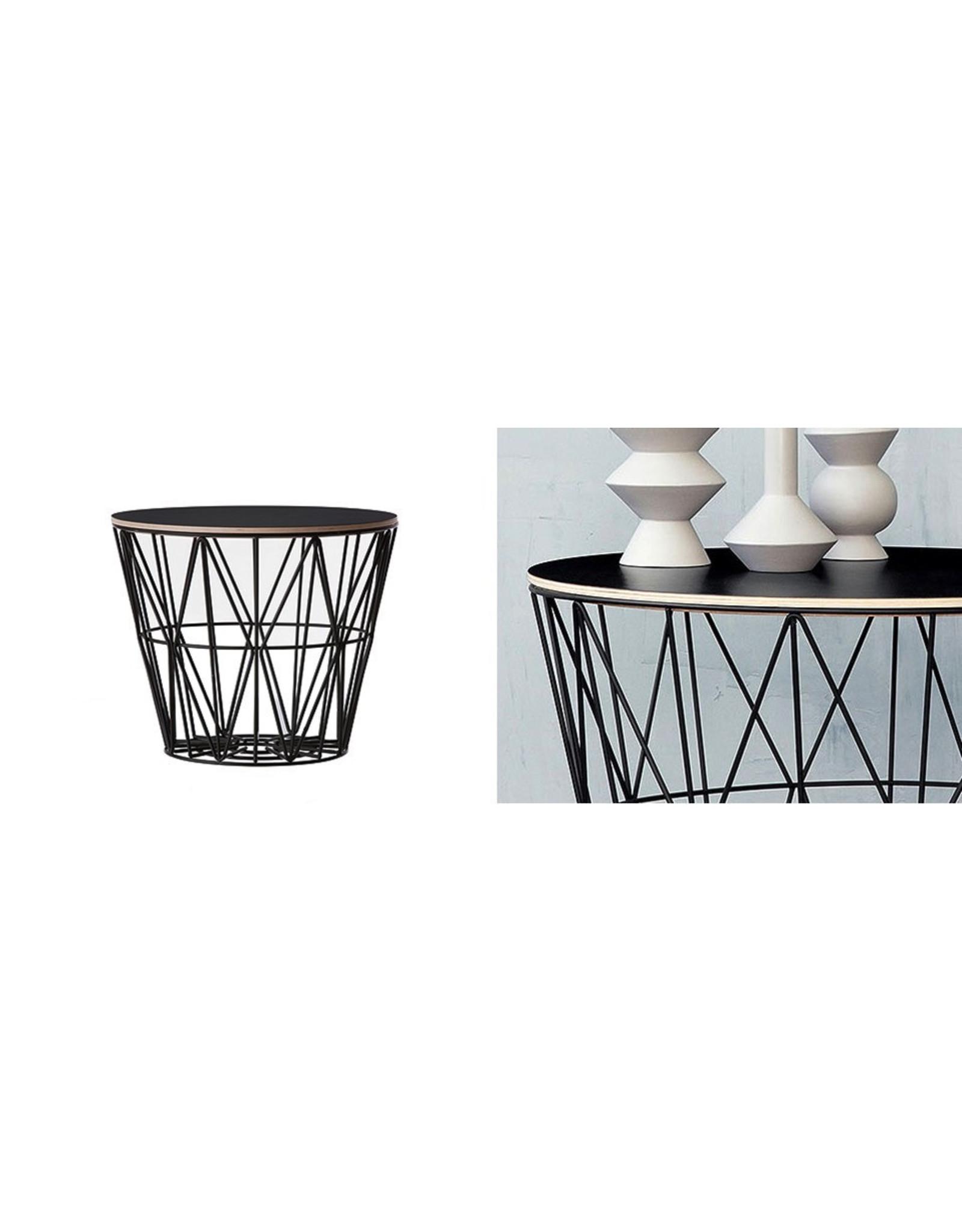 FERM LIVING Wire Basket Top large Black