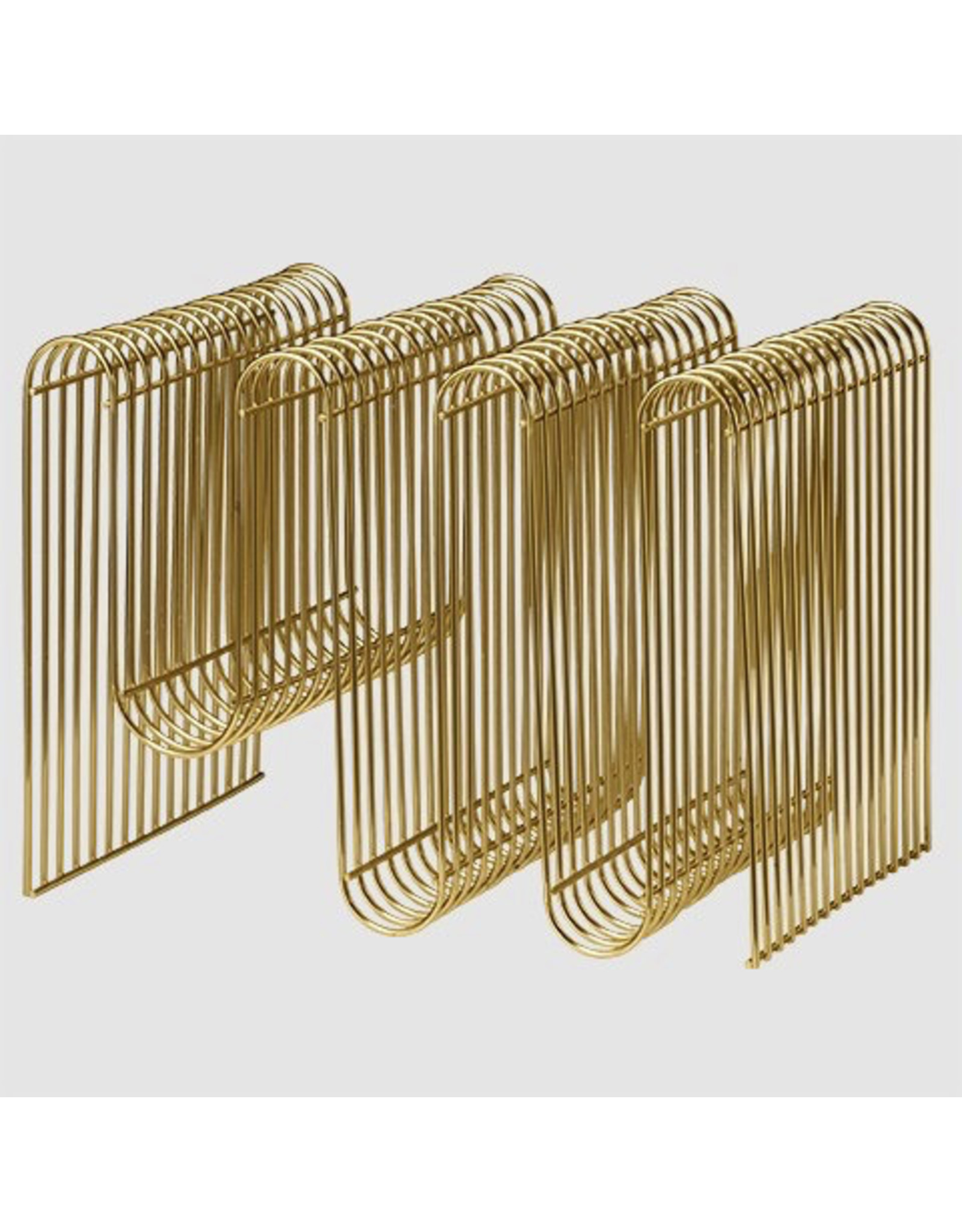 AYTM Curva Magazine Holder Gold