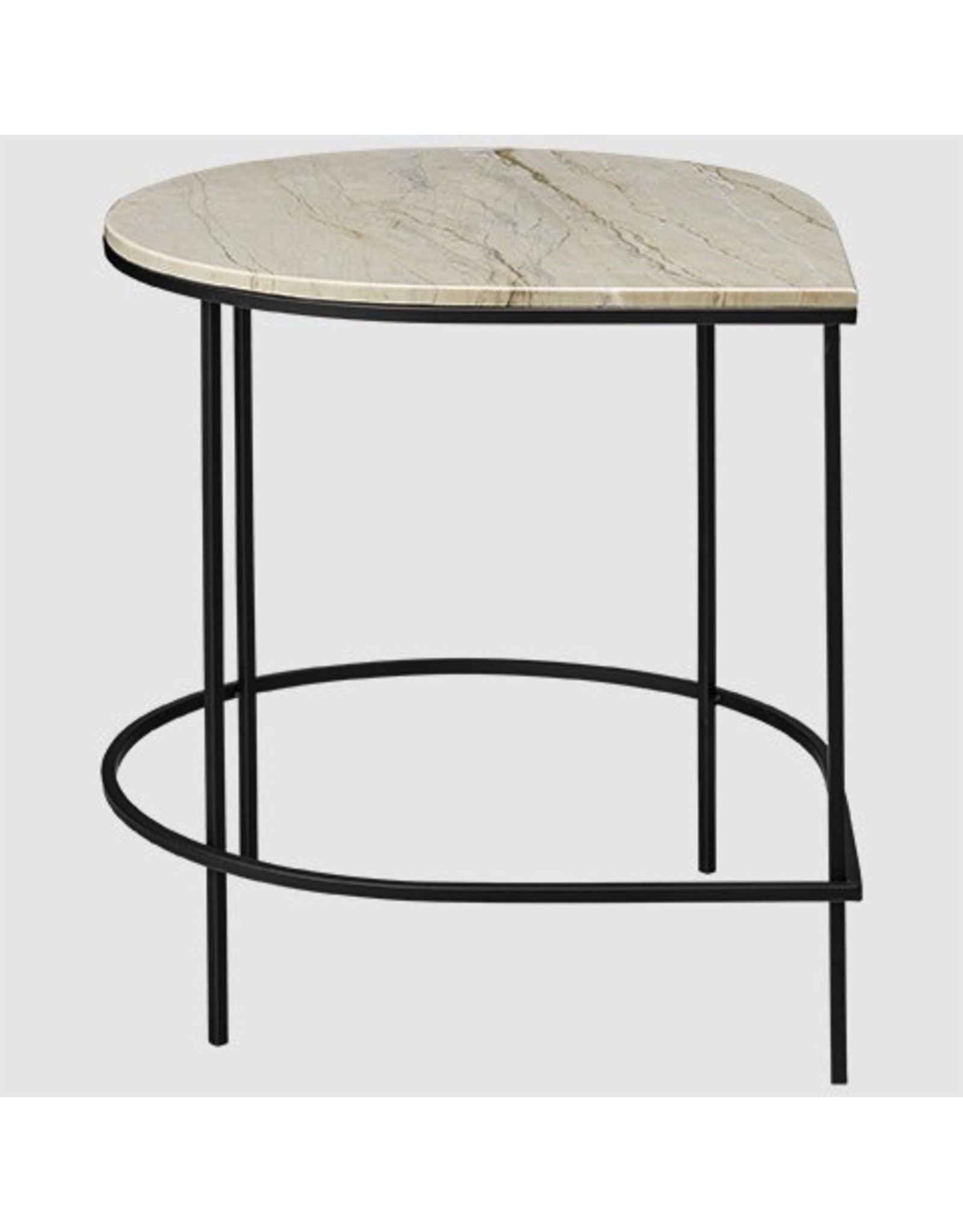 AYTM STILLA TABLE WITH MARBLE TOP SAND