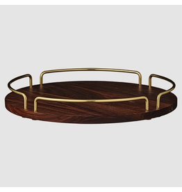 AYTM VITTA TRAY, WALNUT & BRASS L