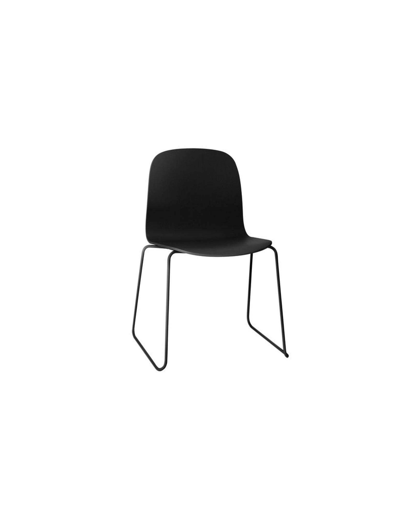 Muuto Visu Chair -Sled Base/ Wood Shell Black