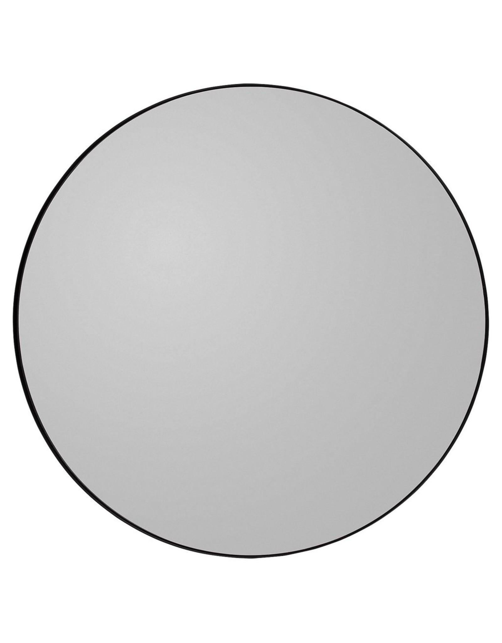 AYTM CIRCUM ROUND MIRROR Black Ø90