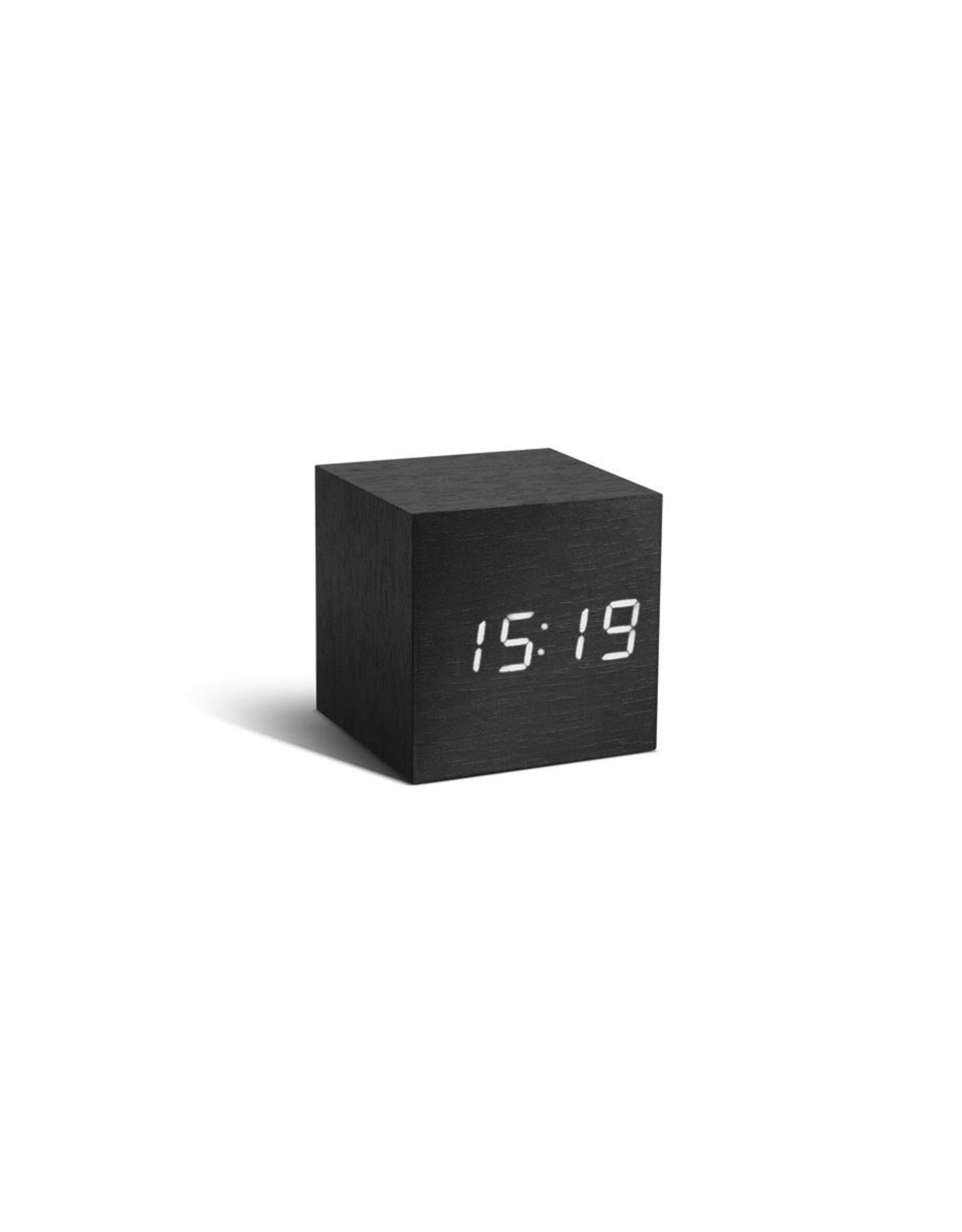 PREFIX DESIGN / LEXON Cube Black Click Clock