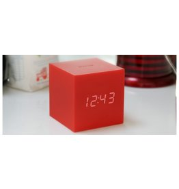 PREFIX DESIGN / LEXON GRAVITY CUBE CLICK CLOCK RED