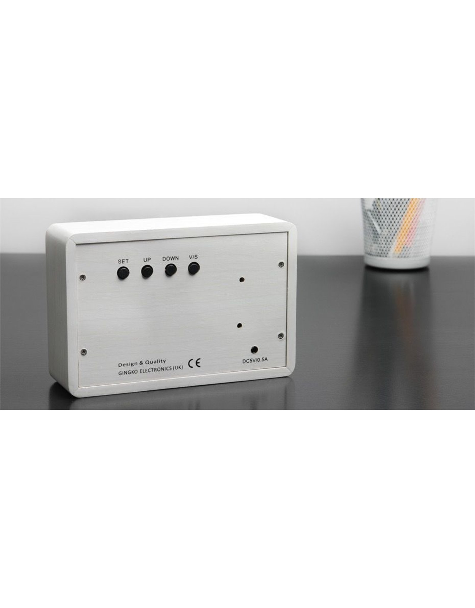 Gingko electronics LTD BRICK CLICK CLOCK WHITE-WHITE
