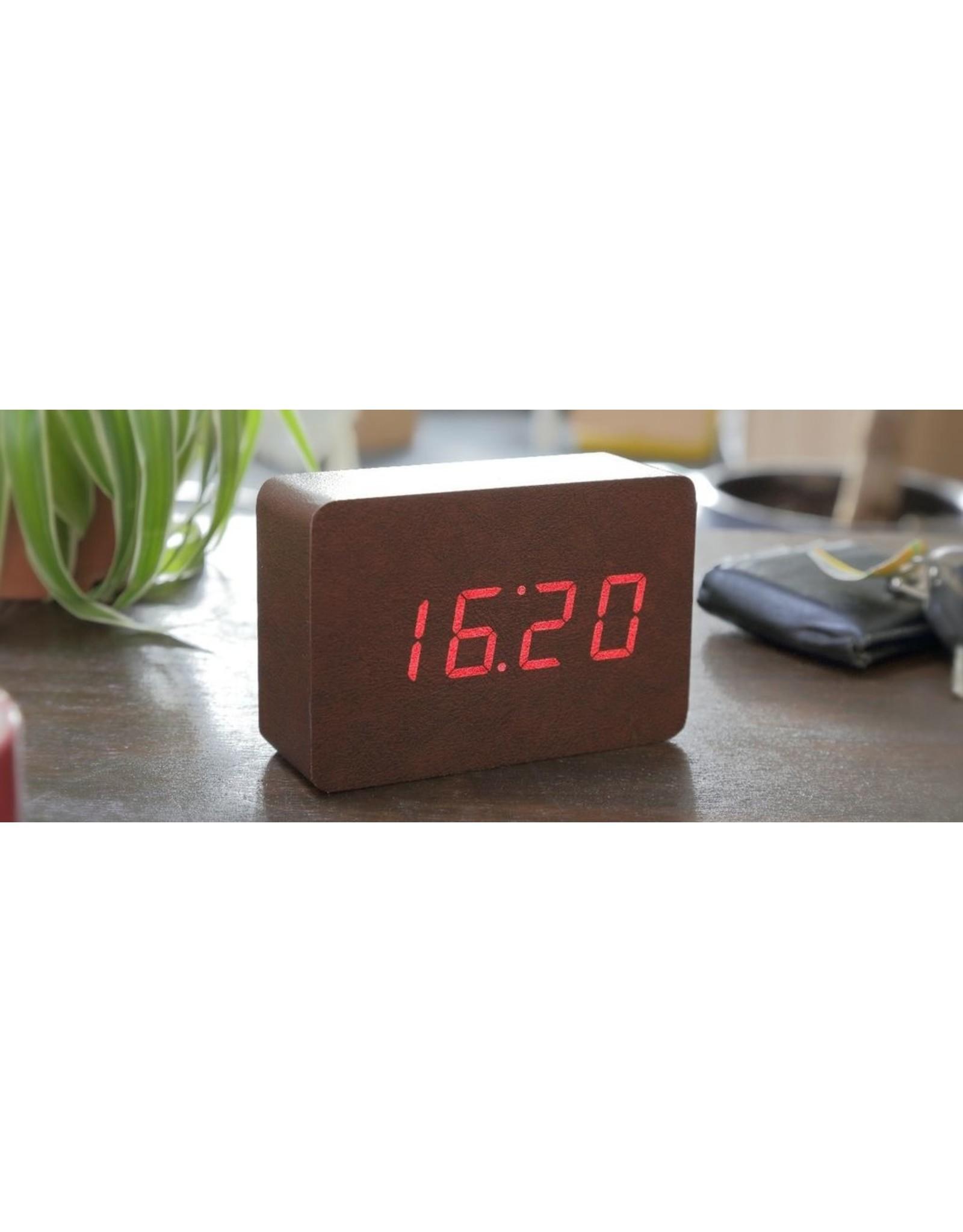 Gingko electronics LTD BRICK CLOCK CLOCK COPPER-LEATHER