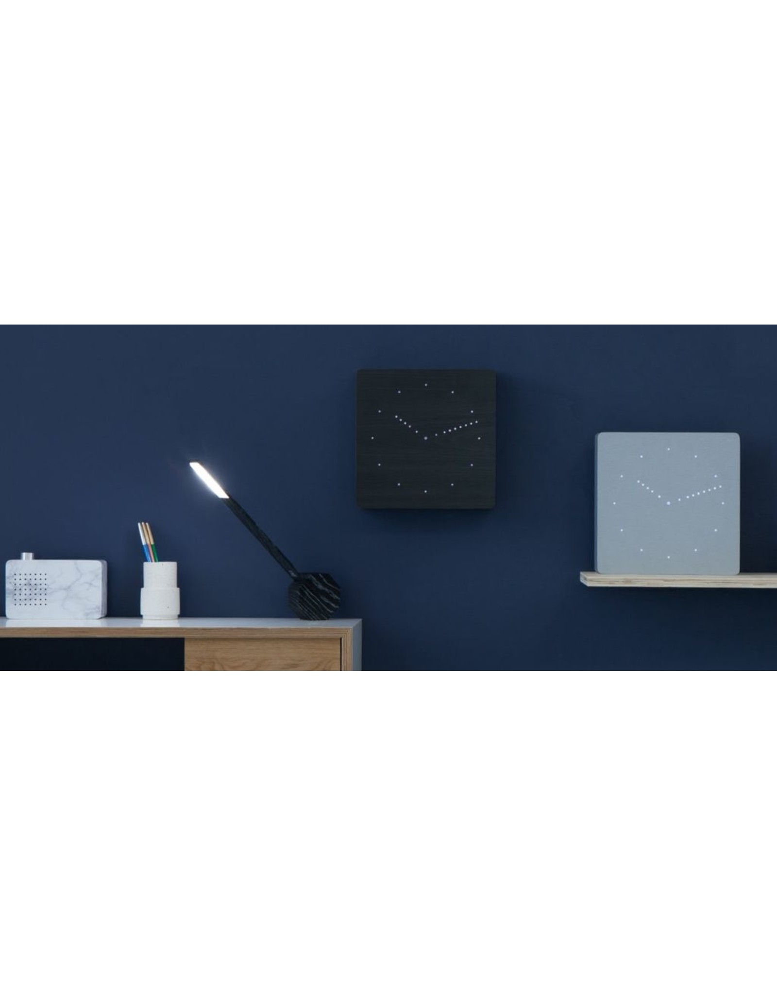 Gingko electronics LTD ANALOG CLOCK BLACK-WHITE LED