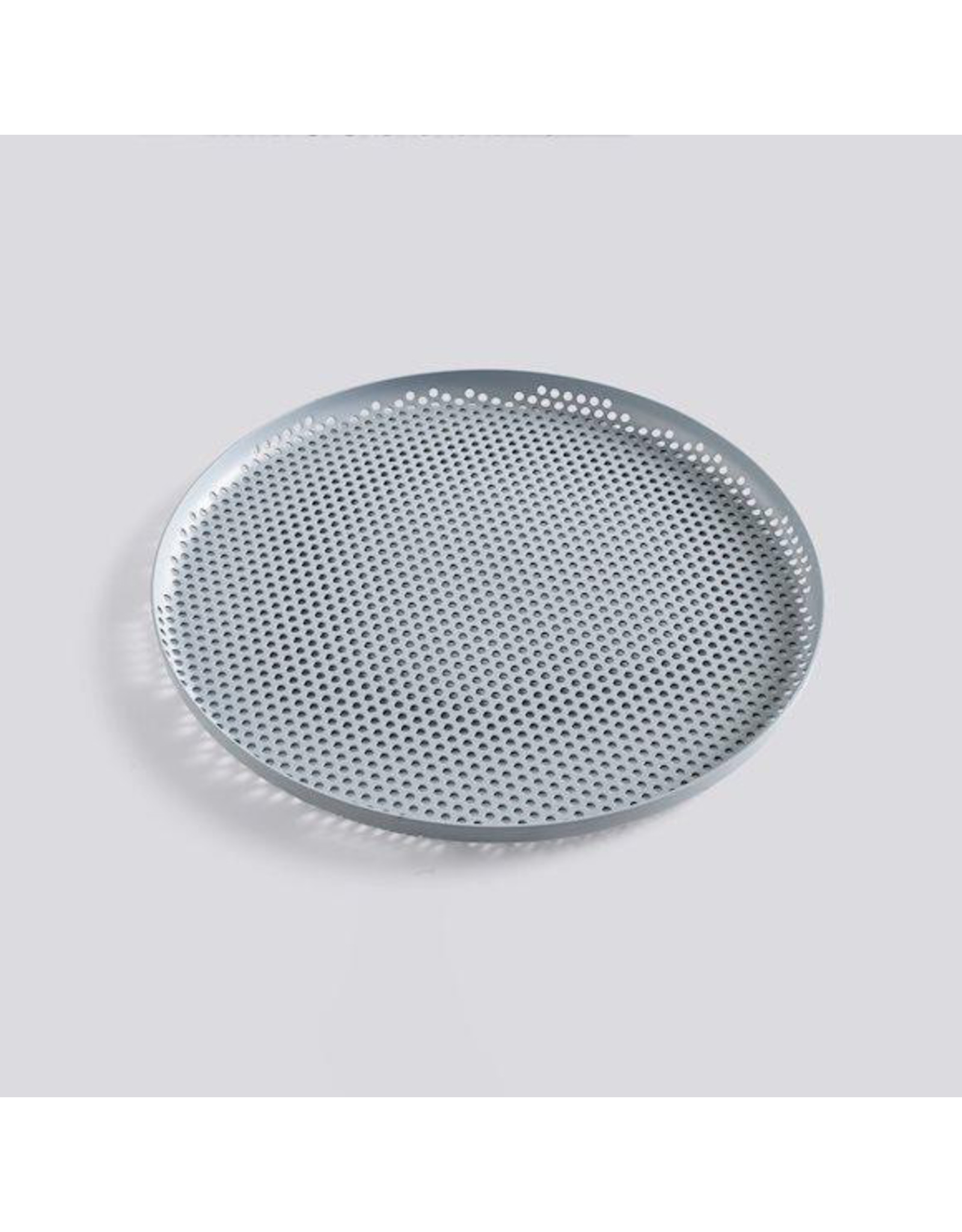 HAY PERFORATED TRAY L DUSTY BLUE 35CM