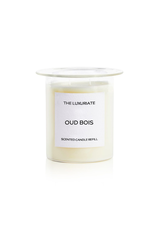 THE LUXURIATE OUD BOIS CANDLE REFILL CLEAR