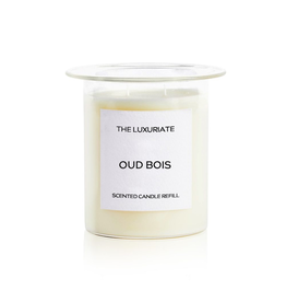 THE LUXURIATE OUD BOIS CANDLE INSERT CLEAR