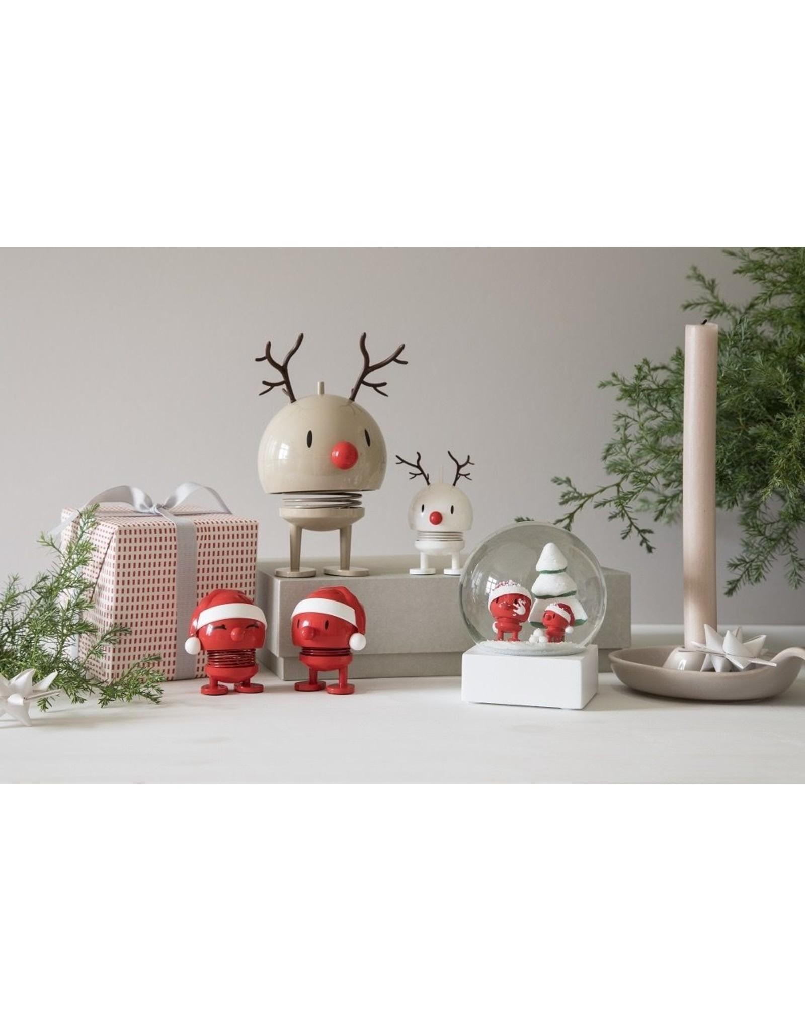 Hoptimist Santa Snow Globe