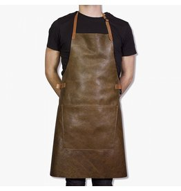 Dutchdeluxe BBQ-STYLE APRONS - VINTAGE FULL GRAIN LEATHER - VINTAGE BROWN