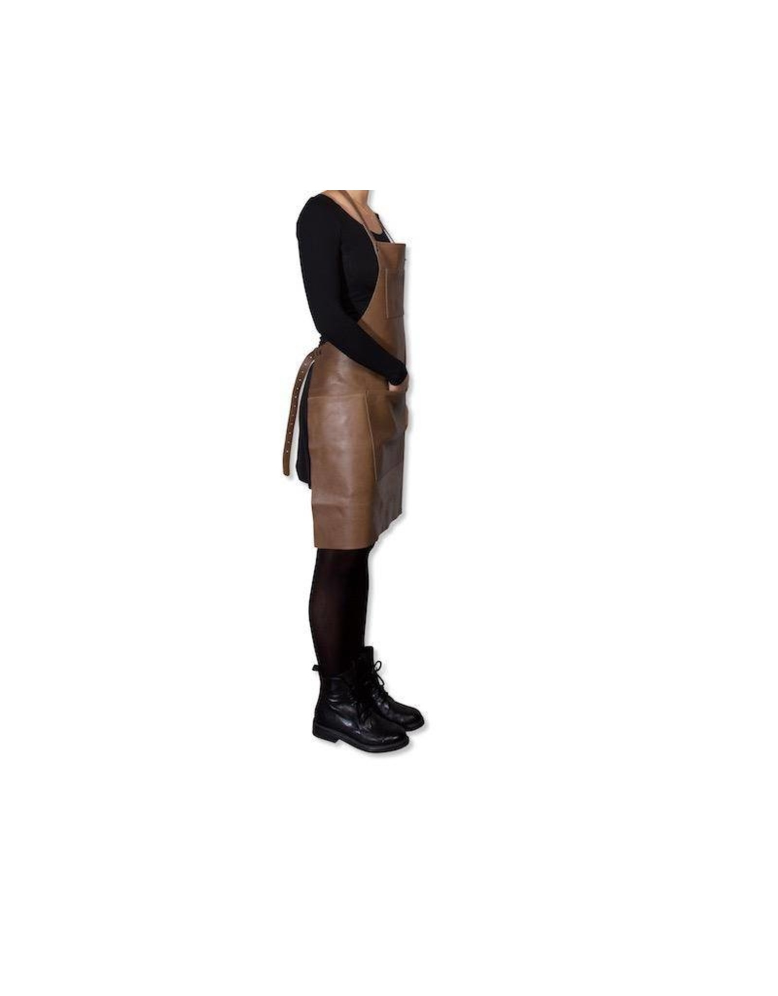 Dutchdeluxe BELT BUCKLE APRON - LEATHER FULL - TAUPE
