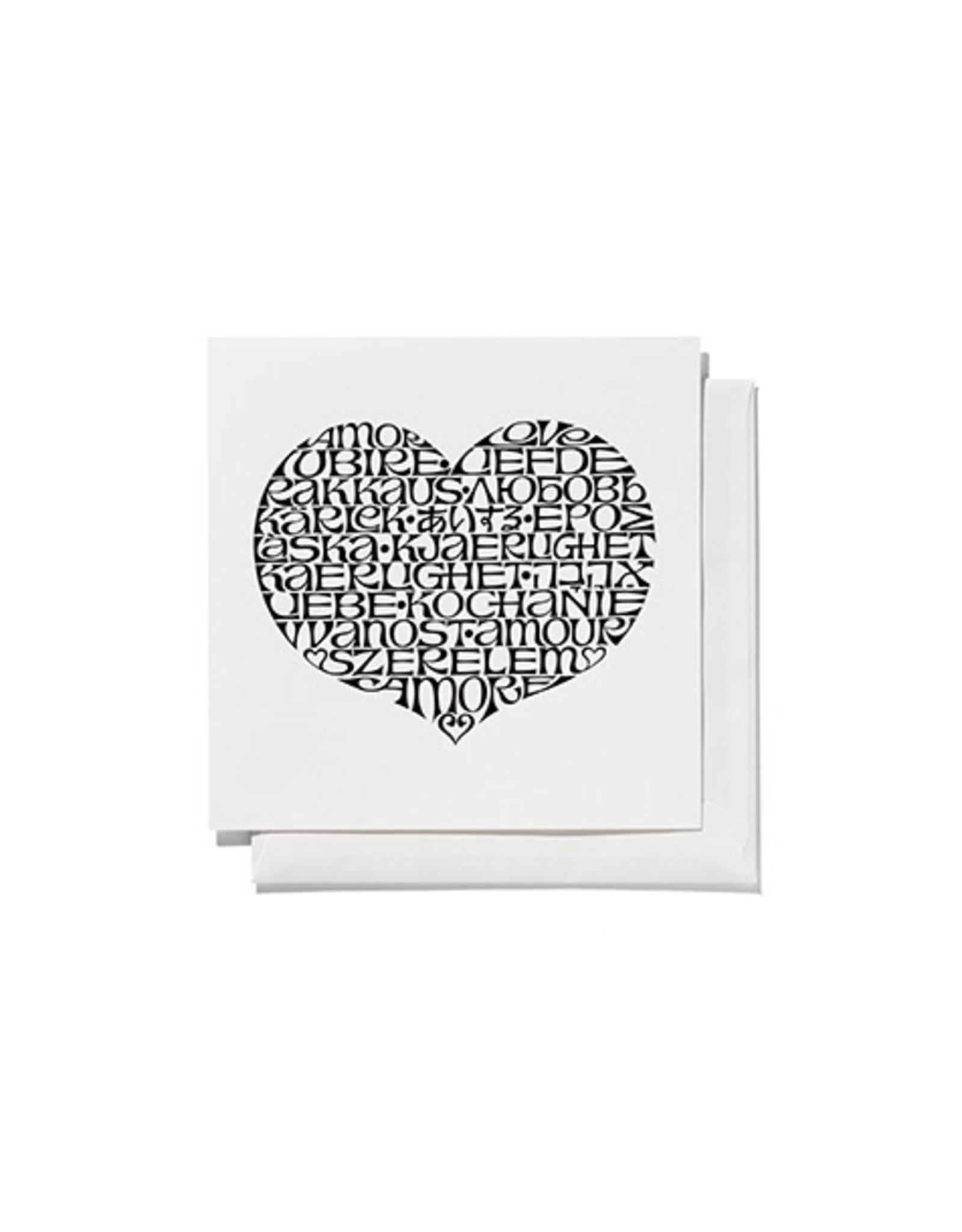 VITRA GREETING CARDS, SQUARE INTERNATIONAL LOVE HEART, BLACK