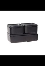 Hubsch A/S BOX W/LID, CERAMICS, BLACK, SET/3