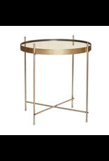 Hubsch A/S TABLE, ROUND, GOLD, METAL/MIRROR