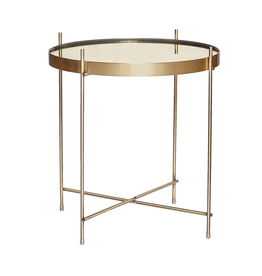 Hubsch A/S TABLE, ROUND, GOLD, METAL/MIRROR