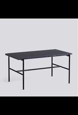 HAY REBAR COFFEE TABLE / SOFT BLACK POWDER COATED STEEL MARBLE / L80 X W49 X H40.5