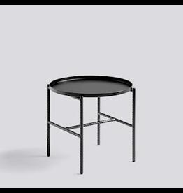 HAY TABLE D'APPOINT REBAR / ACIER REVÊTEMENT POUDRE NOIRE SOUPLE NOIRE / ACIER REVÊTEMENT POUDRE NOIRE SOUPLE NOIRE / Ø45 X H40.5