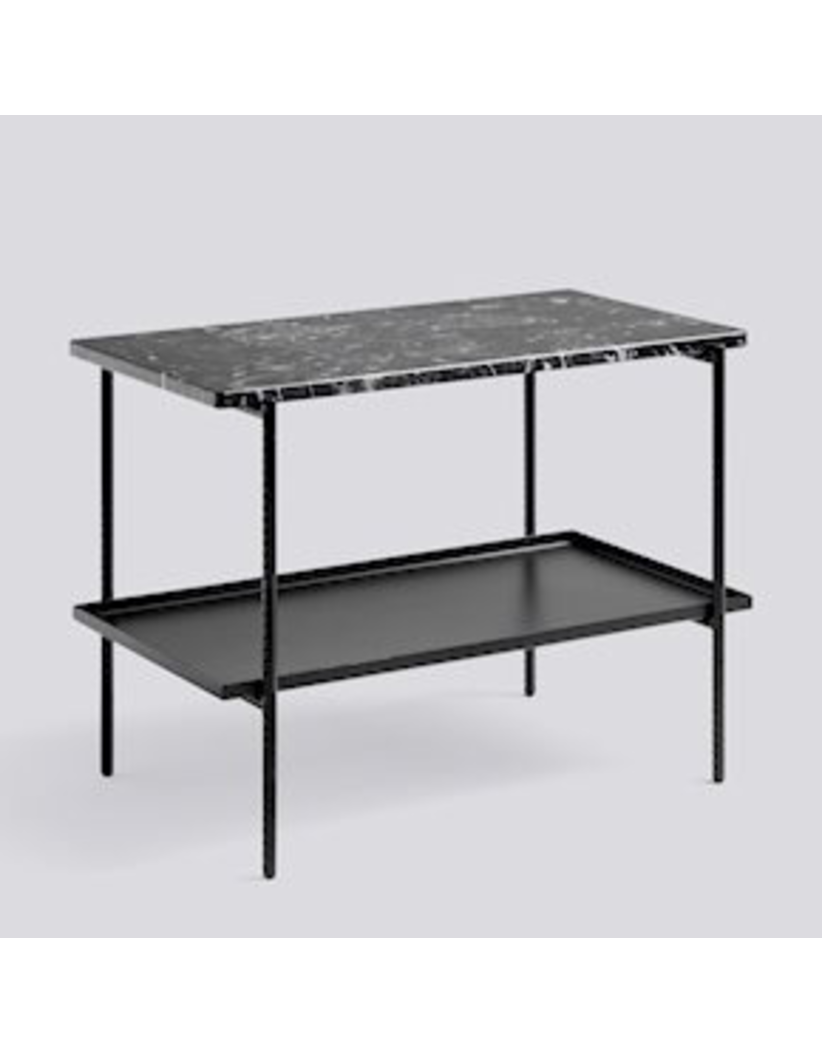 HAY TABLE D'APPOINT DE RECHARGEMENT / ACIER REVàƒÅTEMENT POUDRE NOIRE SOUPLE NOIRE L75 X W44 X H55