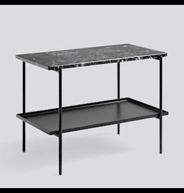 HAY REBAR SIDE TABLE / SOFT BLACK POWDER COATED STEEL MARBLE / L75 X W44 X H55