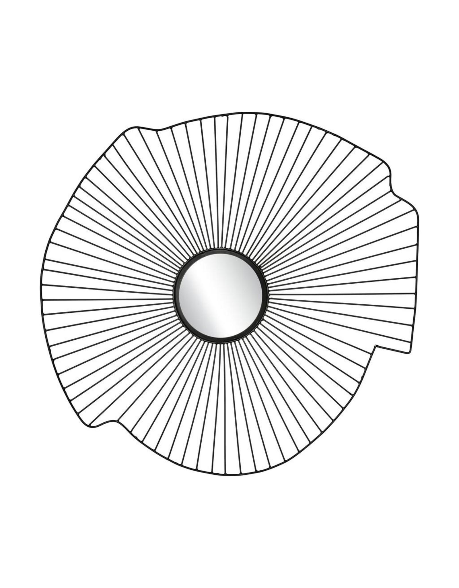 H. Skjalm P. WIRE WALL MIRROR D80CM, BLACK
