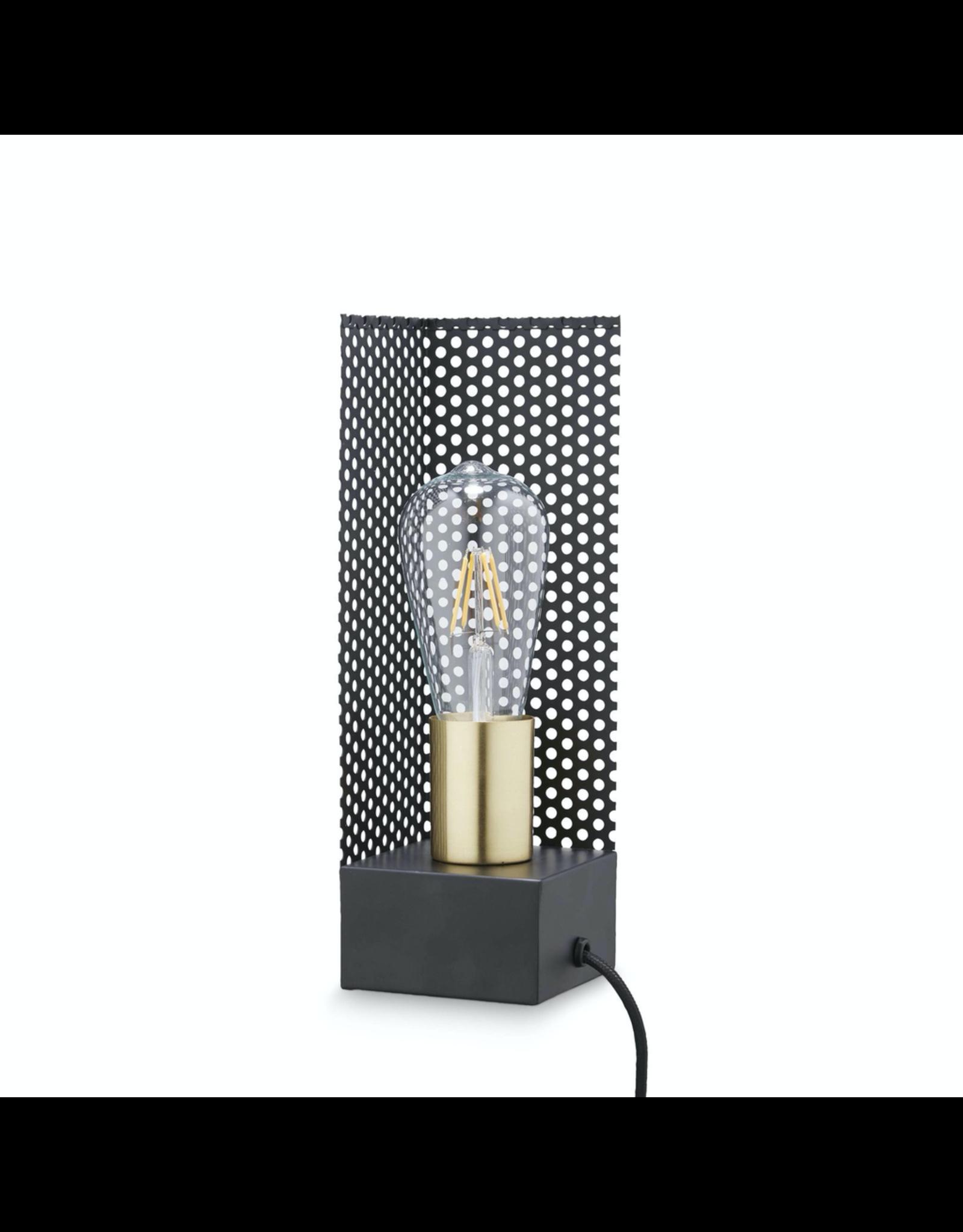 H. Skjalm P. LAMPE CARREE AVEC FIL 9X9 H: 28CM LAITON NOIR
