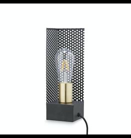 H. Skjalm P. SQUARE LAMP W/WIRE 9X9 H:28CM BLACK-BRASS