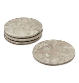 H. Skjalm P. MARBRE COASTER, 4 PCS, D10CM. , GREY WILLIAMS