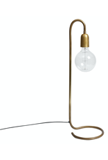 H. Skjalm P. LAMPE 65CM. FOIR GRAND AMPOULE EN LAITON BRUT