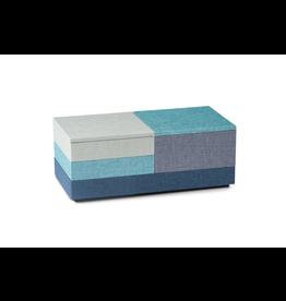 NAV Scandinavia STACK Coffret à bijoux L Set 4 pièces - Bleu / Vert / Gris / Turquoise
