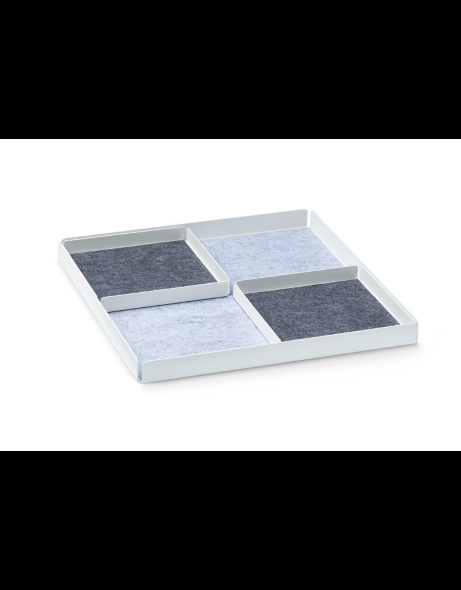 NAV Scandinavia POCKET REST X Organizer Tray Set Set de 3 pièces. - Blanc / Gris