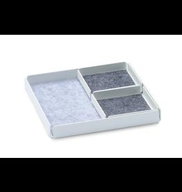 NAV Scandinavia Jewellery Rest x Plateau Organizer Set 3pcs Set - Blanc / Gris