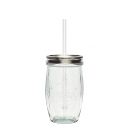Hubsch A/S DRINKING GLASS, RECYCLED GLASS, CLEAR, 9XH15CM