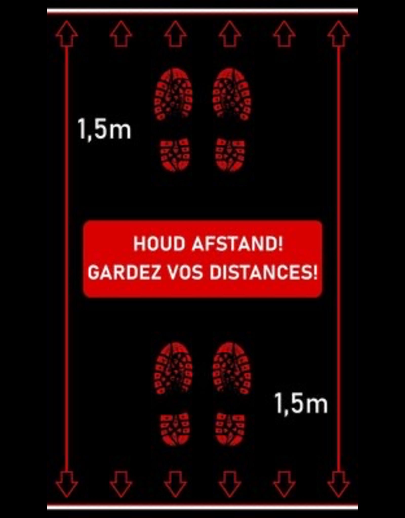 Kreisy Afstandstapijt - Houd afstand! - FEET 150 x 90 cm